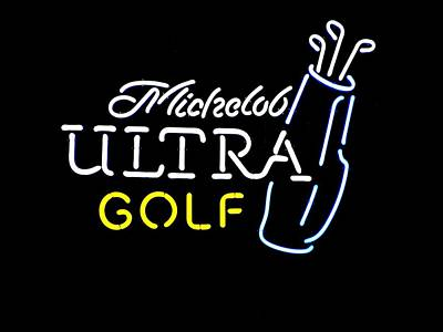 Michelob Ultra Golf Poster by Steven Parker