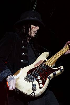 Mick Mars Solo Poster by Melissa C