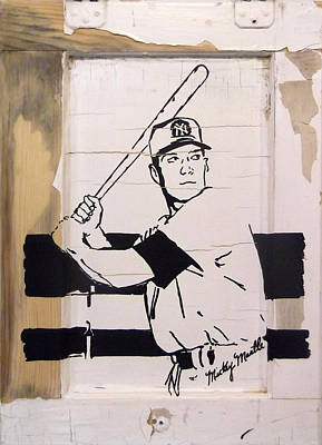 Mickey Mantle Poster by Jill Wells
