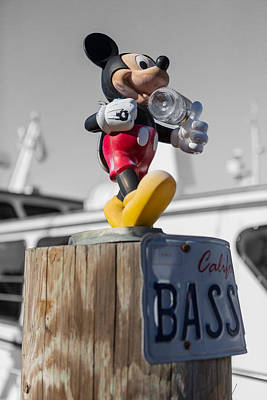 Mickey On A Post Poster by Scott Campbell