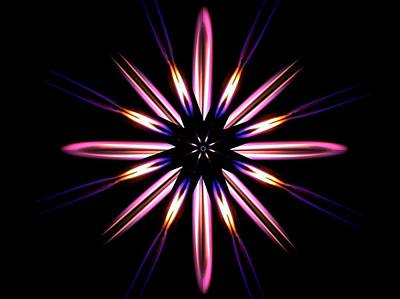 Microgravity Flames Artwork Poster by Nasa