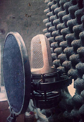Microphone - In The Studio Poster by Brian Howard