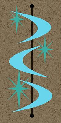 Mid Century Modern Shapes 2 Poster by Donna Mibus