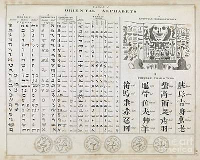 Middle Eastern Alphabets, 1823 Poster by Middle Temple Library