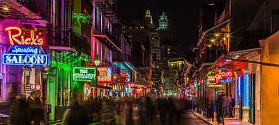 Midnight On Bourbon Street Poster by John McGraw