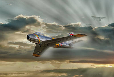 Mig Hunter Poster by Peter Chilelli