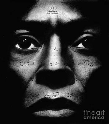 Miles Davis Tutu Poster by Michael Cross