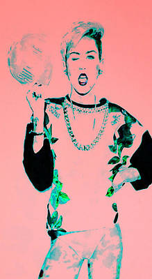 Miley 1 Poster by Brian Reaves
