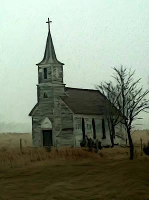Milford Nebraska Church Poster by Dennis Buckman
