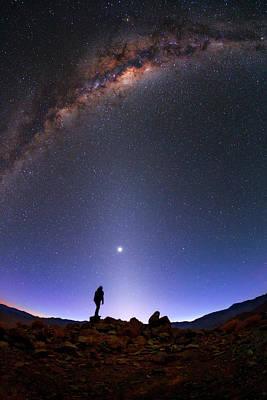 Milky Way And Venus Over Atacama Desert Poster by Babak Tafreshi