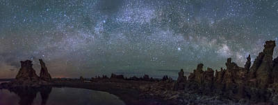 Milky Way At Mono Lake Poster by Cat Connor
