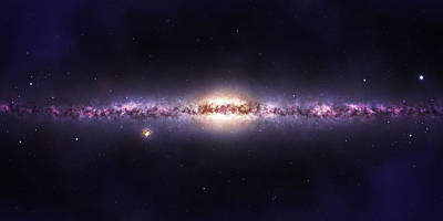 Milky Way Galaxy Poster by Celestial Images
