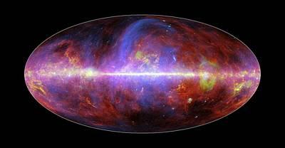 Milky Way Galaxy Poster by European Space Agency/nasa/jpl-caltech