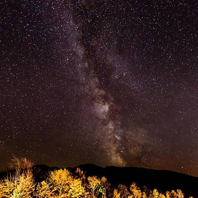 Milky Way Over The Presidentials II Poster by Tim Sullivan
