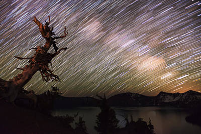 Crater Lake Twilight Poster featuring the photograph Milkyway by Yoshiki Nakamura