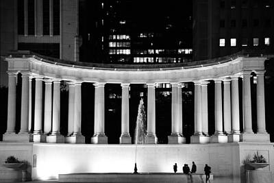 Millennium Monument And Fountain Chicago Poster by Christine Till