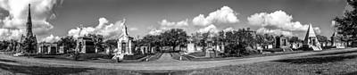 Millionaires Row - Metairie Cemetery Poster by Andy Crawford