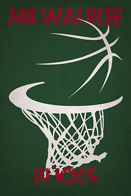 Milwaukee Bucks Hoop Poster by Joe Hamilton