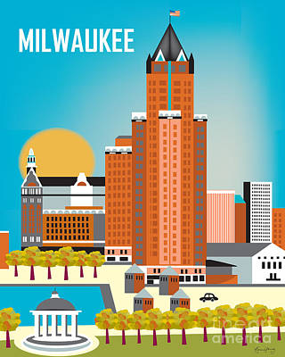 Milwaukee Poster by Karen Young