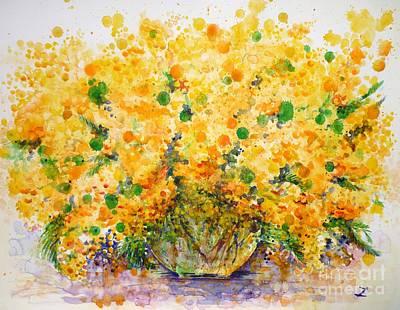 Mimosa Poster by Zaira Dzhaubaeva