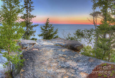 Miners Castle At Pictured Rocks Poster by Twenty Two North Photography