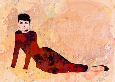 Minimal Audrey Hepburn Poster by Georgiana Romanovna