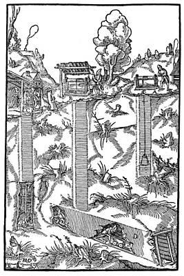 Mining, 1556 Poster by Granger