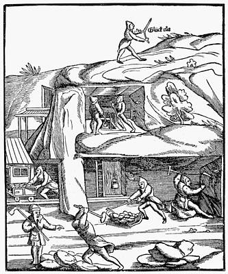 Mining, 16th Century Poster by Granger