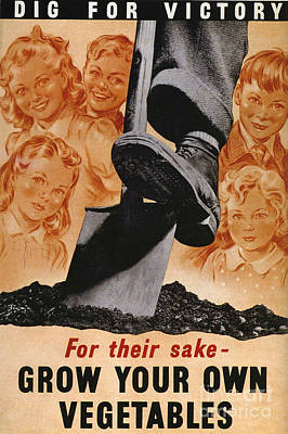 Ministry Of Agriculture 1940s Uk Spades Poster by The Advertising Archives