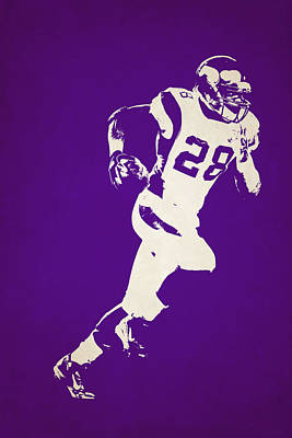 Minnesota Vikings Shadow Player Poster by Joe Hamilton