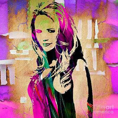 Miranda Lambert Collection Poster by Marvin Blaine