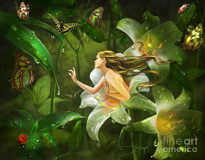 Mirrors Of Twilight Poster by Drazenka Kimpel