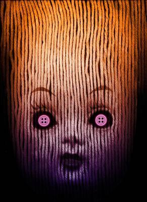 Miss Button Poster by Johan Lilja