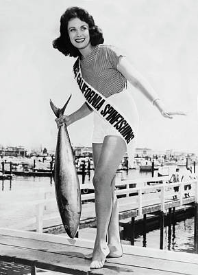 Miss California Spin Casting Poster by Underwood Archives