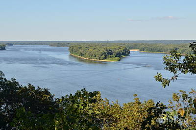 Mississippi River Overlook Poster by Luther   Fine Art