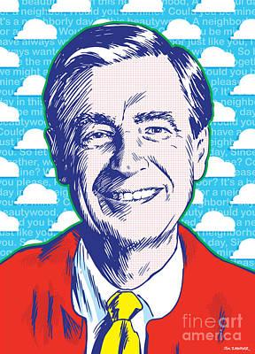 Mister Rogers Pop Art Poster by Jim Zahniser