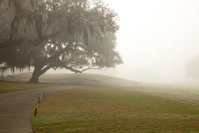 Misty Golf Course I Poster by Barbara Kraus - Northrup