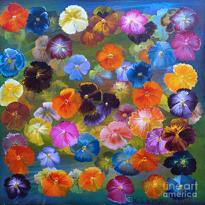 Mixed Pansies Poster by Kate Lomax