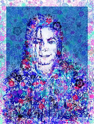 Mj Floral Version 2 Poster by Bekim Art