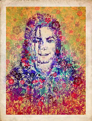 Mj Floral Version 3 Poster by Bekim Art