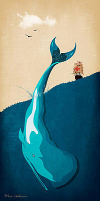 Moby Dick 2 Poster by Mark Ashkenazi
