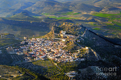 Moclin Castle From The Air Poster by Guido Montanes Castillo