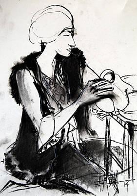 Model #1 - Figure Series Poster by Mona Edulesco