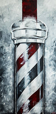 Modern Barber Pole Poster by Chuck Styles