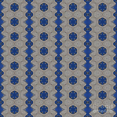 Modern Buidlings Into Moroccan Tile 2 Poster by Beverly Claire Kaiya