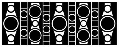 Modern Design 2 In Black Poster by Mike McGlothlen