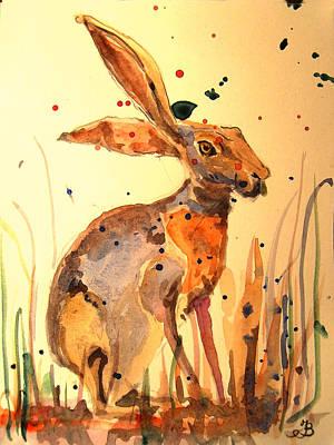 Modern Hare Poster by Juan  Bosco