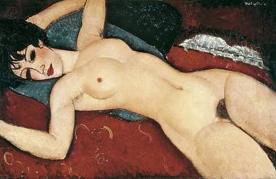 Modigliani, Amedeo 1884-1920. Sleeping Poster by Everett