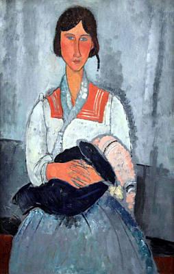 Modigliani's Gypsy Woman With Baby Poster by Cora Wandel