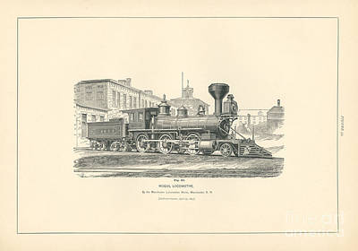 Mogul Locomotive Fig. 53 Poster by MMG Archive Prints